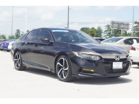 Pre-Owned 2018 Honda Accord Sedan Sport 2.0T ***CPO, BLUETOOTH, BACKUP CAMERA AND 2.0T ENGINE***